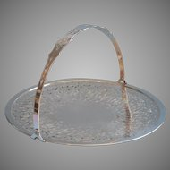 1920s Basket Silver Plated Vintage Cake Dessert Serving Pierced