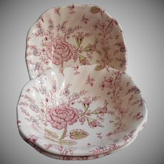 Rose Chintz Vintage Johnson Brothers England 3 Bowls Cereal