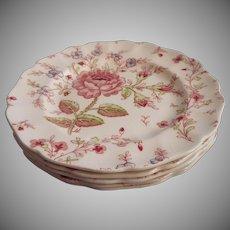 Rose Chintz Vintage Johnson Brothers England 5 Bread Plates