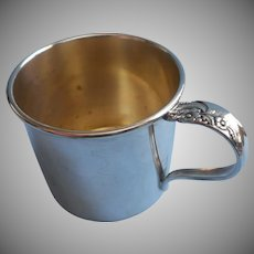Evening Star 1950 Baby Cup Vintage Silver Plated Oneida Community