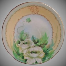 Antique Aqua Hand Painted China Plates Pickard Limoges Bavaria Roses Poppies
