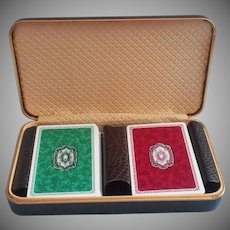 Vintage Cruver Plastic Playing Cards Two Decks Set In Box