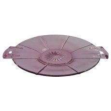 Heisey Hawthorne Bonbon Plate Octagon Vintage Purple Glass Elegant Era - Red Tag Sale Item