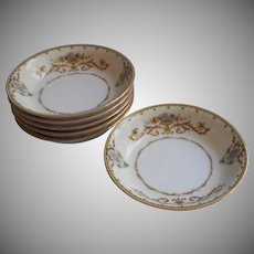 Noritake Arabella 6 Fruit Bowls Vintage 1930s China