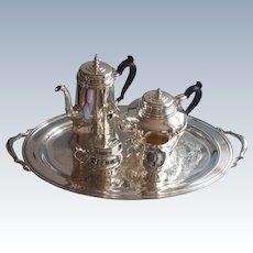 Graceful Pairpoint Silver Plate 3 Pc Tea Set Vintage Teapot Sugar ...