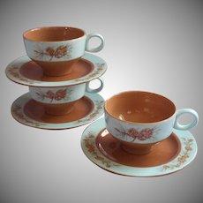 1950s Azure Pine Taylorcraft Taylor Smith Taylor Cups Saucers Vintage China