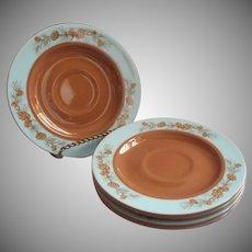 1950s Azure Pine Taylorcraft Taylor Smith Taylor 5 Saucers Vintage China