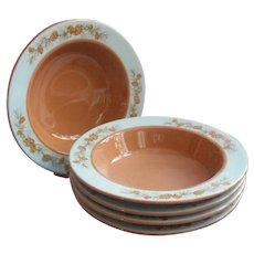 1950s Azure Pine Taylorcraft Taylor Smith Taylor Soup Bowls Vintage China
