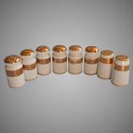 Gold White Shakers Vintage China 4 Sets Pairs Wedding Ring Band