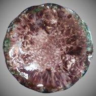 Jasba Keramik Bowl Majolica Mottled Glaze Grapes Vintage