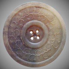 Antique Button Large Horn