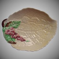 Carlton Ware Vintage China Trinket Dish Foxglove Yellow Leaf