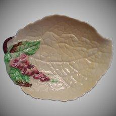 Carlton Ware Vintage China Trinket Dish Foxglove Yellow Leaf