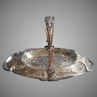 Antique Bonbon Basket Ornate Silver Plated TLC