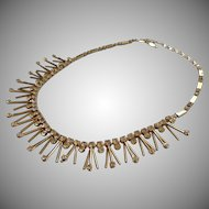 Vintage Sarah Coventry Star Shower Necklace Atomic Spiky Rhinestone Tips