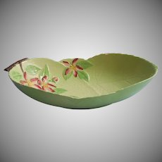 Carlton Ware Apple Blossom Green Vintage Oblong Bowl TLC