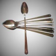 Vintage Iced Tea Spoons Surf Club 1938 Set 8 Silver Plated