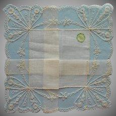 Vintage Hankie Wedding Worthy Unused Linen Lace Desco Label