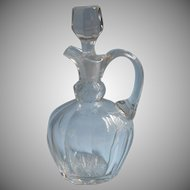 Antique Decanter Jug Glass Handsome Simple Cut