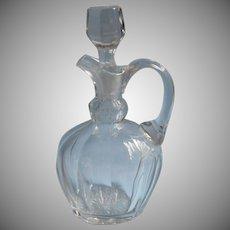 Antique Decanter Jug Glass Handsome Simple Cut