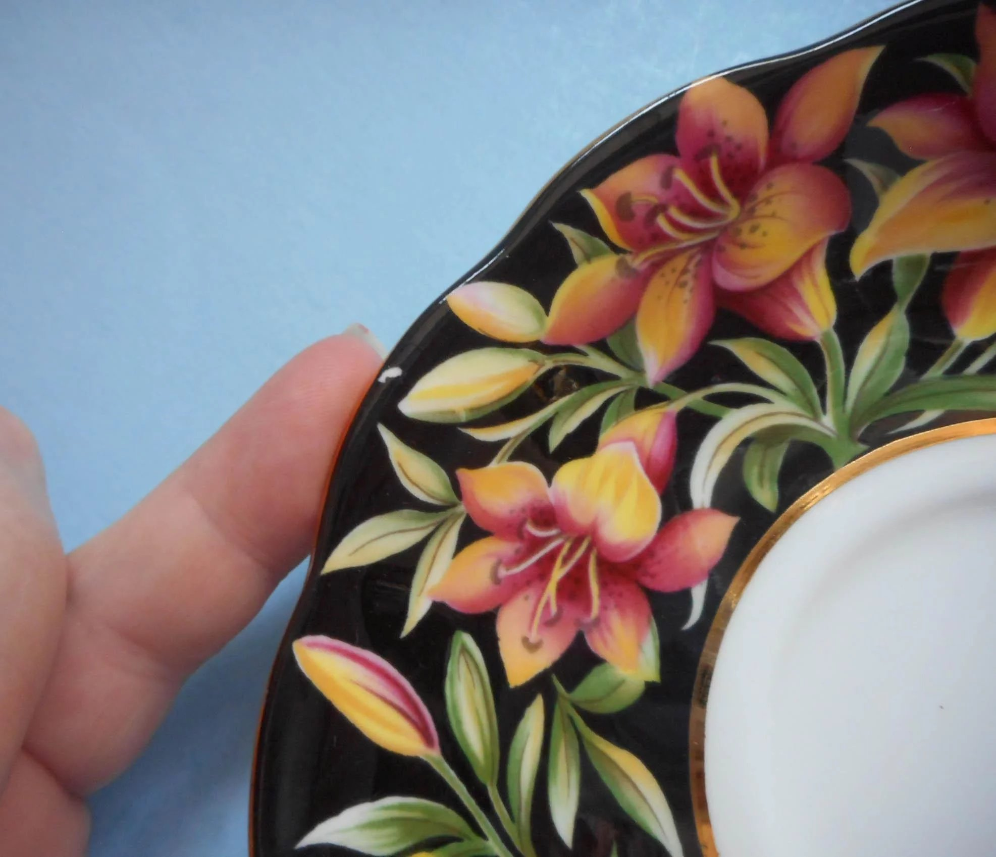 Royal Albert Prairie Lily Vintage Bone China Cup Saucer Provincial