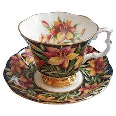 Royal Albert Prairie Lily Vintage Bone China Cup Saucer Provincial Flowers Series - Red Tag Sale Item