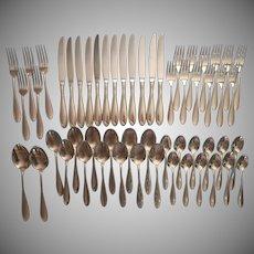 Camber Stainless Steel Flatware Vintage Oneida Service 12 Minus 7 Dinner Forks