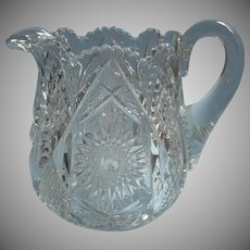 Antique Water Pitcher EAPG Pressed Glass Nice Ground Bottom
