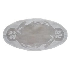 Bread Tray Doily Vintage Madeira Organdy Linen Appliqued