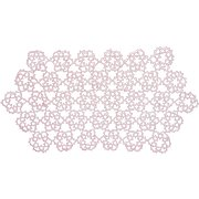 Vintage Tatted Lace Doily Pink