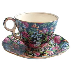 Royal Winton Chintz Chelsea Vintage Cup Saucer Oversized English China