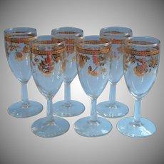 Culver Chantilly Stemmed Cocktail Wine Glasses Vintage Midcentury Barware