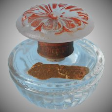 1920s Perfume Bottle Pandora Narcissus Figural Flower Stopper Glass