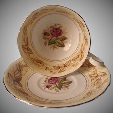 Victoria Chelsea Pink Roses Bone China Cup Saucer Cartwright Edwards