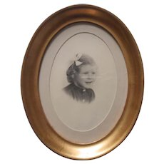 Vintage Frame Deep Oval Gold Wooden Standing Picture Photo Good Quality
