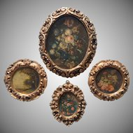 Vintage Italy Gesso Wood Gold Gilt Frames Italy Midcentury