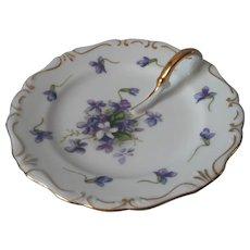 Rossetti Spring Violets Lemon Dish Vintage China Occupied Japan - Red Tag Sale Item
