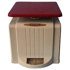 Vintage Scale Red Cream Kitchen 24 Lb Universal Landers Frary Clark