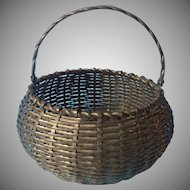 Vintage Brass Basket With Handle 1970s Brass India Nice One