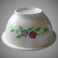 Huge Homer Laughlin Mixing Bowl Vintage Oven Serve Line Hand Painted Flowers