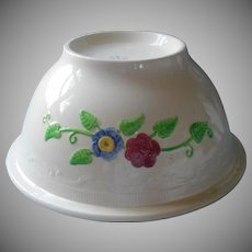 Huge Homer Laughlin Mixing Bowl Vintage Oven Serve Line Hand Painted Flowers