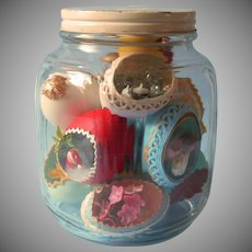 Vintage Decorated Eggs In Glass Jar Easter Christmas How Cute Is This