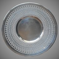 Silver On Copper Vintage Pierced Plated Salver Serving Plate Vintage
