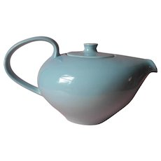 Vintage Russell Wright Iroquois Casual China Teapot Blue - Red Tag Sale Item