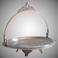 Victorian Basket Pairpoint Silver Plated Antique Fruit Cake