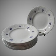 Chelsea Grapes Set 8 Dessert Plates Antique Grandmother's Ware China Ironstone