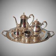 Vintage Tea Set Park Lane On Tray Teapot Coffee Pot Sugar Bowl