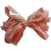 Vintage Lace Ribbon Trim Ecru Pink 5 Yards Unused