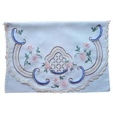 1920s Nightgown Case Vintage Hand Embroidered Use As Pillow Sham