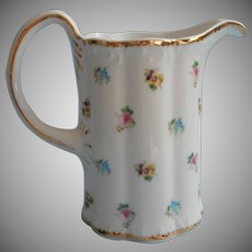 Godinger Rosebud Pitcher Vintage China Rose Pansy Forget Me Not